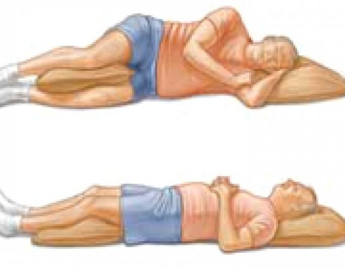 به پهلو و یا پشت روی تشک خوب بخوابید